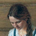 Девушка в голубом сарафане. (фрагмент картины)