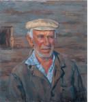 Первый тракторист с. Селище ветеран ВОВ И.Ф.Миронов 1986 г. 67.7 х 57.5 см, х/м. (собственность автора)