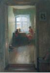 Материнства тихий свет.  1984 г. 130 х 90 см, х/м. (Частная картинная галерея г. Москва)