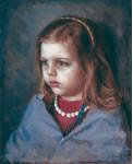 В мечтаньях.  Портрет дочери Зои.  1986 г. 41.5 х 34.5 см, х/м. (собственность автора)