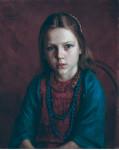 Внимательная слушательница.   Портрет дочери Маши.  1986 г. 52 х 47 см, х/м. (собственность автора)