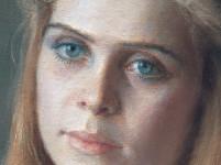 Девушка с голубыми глазами. (фрагмент картины)