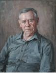 Портрет писателя Валентина Распутина. 2003 г. 65 х 50 см, холст, масло. (собственность автора)