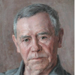 Портрет писателя Валентина Распутина.  (фрагмент картины)