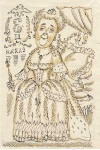 Иллюстрация к эпиграмме Пушкина  Мне жаль великия жены.