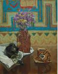 Цветы безсмертника.  х.м. 45х35см. 2004г.