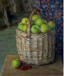 Натюрморт Антоновские яблоки  х.м. 60х50см. 2010г.