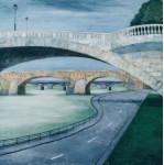 МОСТЫ СЕНЫ.  76х76см. орг.м.  the Siene bridges
