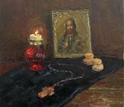 Вилкова Е. Молитва в тишине.  35х40 см. х.м. 2013г.