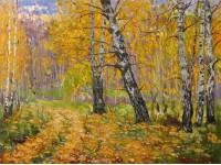 Осенняя дорога.  х.м.60х80 см