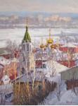 Вилков.А. Золотые купола. 80х60 см. х.м. 2012 г.