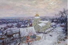 Морозное утро.  40х60 см. х.м. 2013г.  Вилков. А.