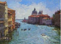 Венеция Большой канал.  55х75 см. х.м. 2012г. Вилков А.