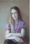 Портрет дочери. Тон.б., пастель,44х63 см.