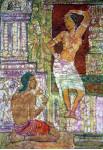 Рисунок любви 85х130 гор. батик.шелк 2006г.