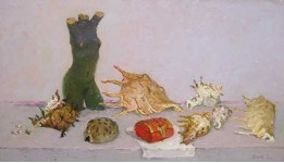 Раковины южных морей. 2009 холст.масло 40х70 см