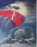 Уваров С. Куллерво. Отчаяние 40х50, б. темпера, 2003г.