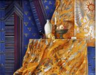 Уваров Сергей. Натюрморт в стиле модерн 70х90 х. темпера, 1996г
