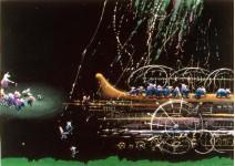 Ноев Ковчег.  250х70см  б. темпера, 1993г.