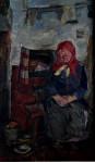 Бабушка Маша - эскиз 70х35см. х.м.  2004г.