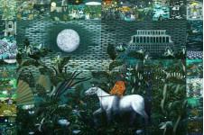 «Классическая езда на белой лошади» х.м.   2000г.    245х360 (восемь стычных холстов)      Серия работ «Возвращение»: ( 2, 3, 4 )