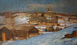 Деревня- Гора Жеребцова  х.м.91х152см.