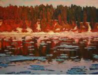 Красные берега  х.м.100х130см.