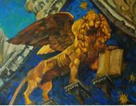 Святой Марк  евангелист.  х.м. 100х130см. 2008г.
