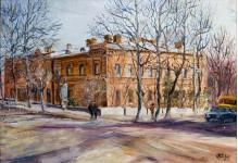 Краеведческий музей.  орг/м 50х26см. 2009 год