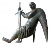 Ангел хранитель 2005 г. Бронза. 42х36х18