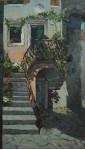 Лестница в цветах.  х.м. 102х59см. 2006г.