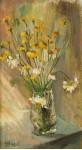 Желтые ромашки.  орг/м  25х44см.1996 год