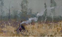 Осеннее настроение.  30х50 см. х.м. 2013