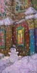Снеговик. 2008 холст.масло60х30см