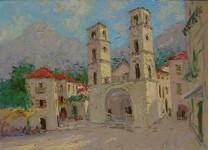 Котор. площадь у кафедрального собора. х.м. 50х70 см.