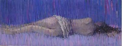 Голубая спящая. 2009 холст.масло 30х80 см.