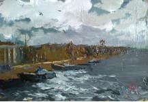 У берега.  20х30 см. к.м. 2013
