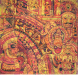 Маски Кералы 80х80 шелк, гор.батик
