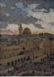 Иерусалим.  х.м.70х50см.
