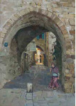 Переулок  древнего города Яффа.  х.м.70х50см.
