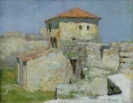 Полдень .Старая крепость.  1997г. х.м. 42х54 см.