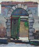 Очарованная  дверью.  х,м  60х50см. 2009г.
