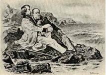В.Г.Белинский и М.С.Щепкин.