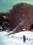 Уваров С. Год быка.  69х51см, орг.темпера, 1996г.