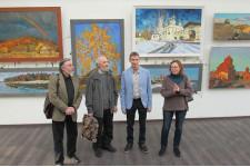 На открытии выставка А. Каменева