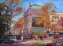 """Никитский К. Ю. """"Екатерининский сквер"""". х.м. 50х70 см. 2013 г."""