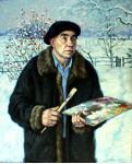 портрет художника В.В.Лаворько. Х.м. 105х85см.