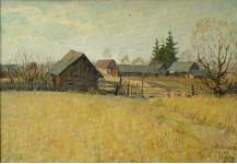 Окраина села. к.м. 30х38см. 2009г.