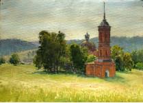 Церковь в Казарке. к.м. 34х47 см. 2010г.
