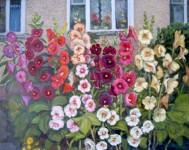 Мальвы цветут. 82х100см. х.м. 2008г.